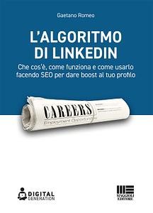 Copertina libro Algoritmo di Linkedin Gaetano Romeo